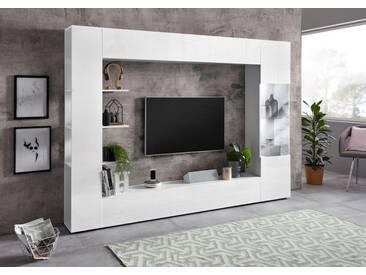 LC TV-Wand »Sorano« (4-tlg.), weiß, weiss matt/weiss Hochglanz Lack
