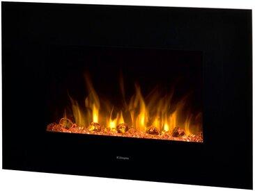 Glen Dimplex DIMPLEX Elektrisches Kaminfeuer »Toluca de Luxe«, 1000 W, 2 Heizstufen, inkl. Fernbedienung, schwarz, schwarz