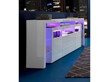 borchardt Möbel Sideboard, Breite 220 cm, weiß, Weiß Hochglanz