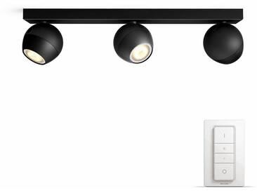 Philips Hue LED Spot Buckram schwarz 3flg. inkl. Dimmschalter. Der einf. Einstieg in Ihr Smart Home, schwarz, schwarz