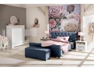 Home affaire Polsterbett »Goronna«, in 5 verschiedenen Farben und 4 Breiten, blau, ohne Matratze ohne Lattenrost, ohne Matratze, blau