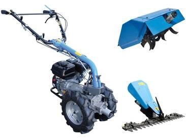 Güde GÜDE Set: Motoreinachser »GME«, 4,8 kW/6,5 PS, mit Zapfwellenantrieb, blau, blau
