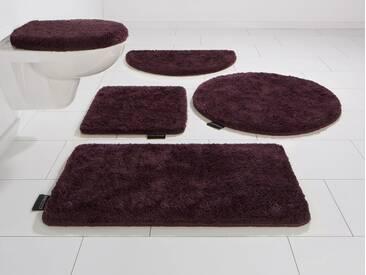 Bruno Banani Badematte »Lana« , Höhe 25 mm, rutschhemmend beschichtet, fußbodenheizungsgeeignet, lila, 25 mm, plum
