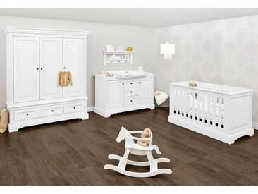 Pinolino® Pinolino Babyzimmer Set, Kinderzimmer »Emilia« extrabreit groß (3-tlg.), weiß, weiß