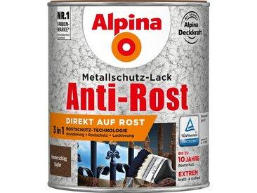 Alpina ALPINA Metallschutzlack »Anti-Rost Hammerschlag«, Kupfer, 750 ml, braun, braun