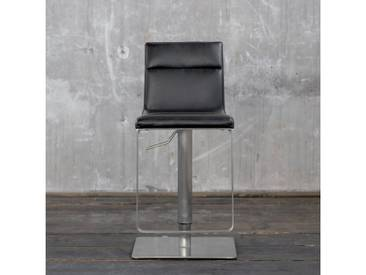 KAWOLA Barhocker Kunstleder höhenverstellbar versch. Farben »TARBIS«, schwarz, schwarz