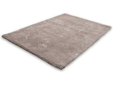 LALEE Hochflor-Teppich »Velvet«, rechteckig, Höhe 25 mm, silberfarben, 25 mm, platinfarben