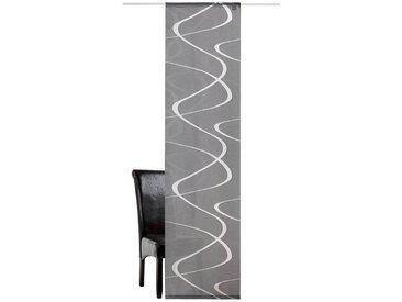 DEKO TRENDS Schiebegardine »Pelotas«, Klettband (1 Stück), ohne Montagezubehör, grau, Klettband, halbtransparent, anthrazit