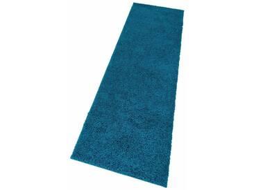 my home Hochflor-Läufer »Bodrum«, rechteckig, Höhe 30 mm, blau, 30 mm, petrol