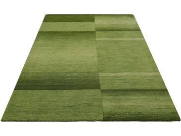 Theko Exklusiv Teppich »Jorun«, rechteckig, Höhe 14 mm, von Hand gearbeitet, grün, 14 mm, grün