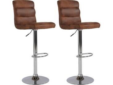 Steinhoff Barhocker »Pearl« (2 Stück), Sitzhöhe 98-120 cm, braun, Vintage braun
