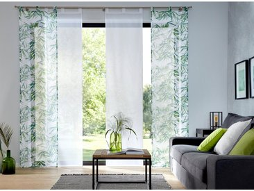 my home Schiebegardine »Bambus«, Schlaufen (2 Stück), grün, Schlaufen, transparent, grün