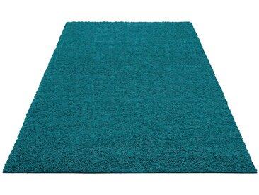 Home affaire Hochflor-Teppich »Shaggy 30«, rechteckig, Höhe 30 mm, grün, 30 mm, petrol