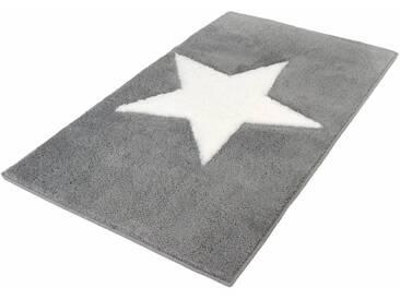 Kleine Wolke Badematte »Sigma« , Höhe 20 mm, rutschhemmend beschichtet, fußbodenheizungsgeeignet, grau, 20 mm, platinfarben