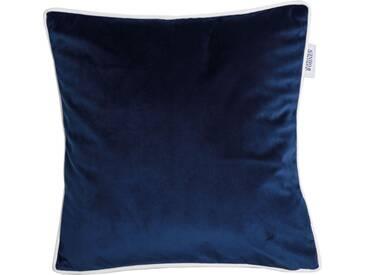 SCHÖNER WOHNEN-KOLLEKTION Kissenhülle »SW-Velvet«, blau, Polyester, blau