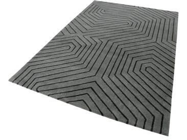 Esprit Wollteppich »Raban«, rechteckig, Höhe 10 mm, grau, 10 mm, grau