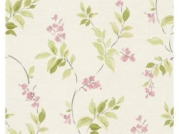 living walls Schaumtapete »Around the world 30416«, floral, FSC®, RAL-Gütezeichen, grün, grün-rosa-weiß