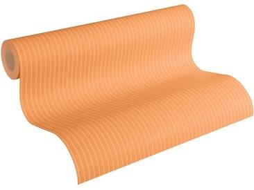 Esprit Vliestapete »Nostalgic Folklore«, matt, glänzend, grafisch, gestreift, FSC®, RAL-Gütezeichen, schwer entflammbar nach DIN 4102, orange, orange
