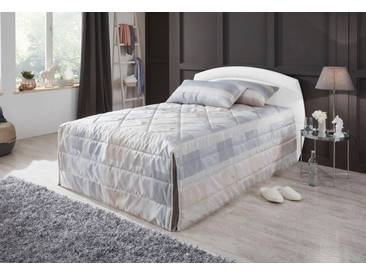 Westfalia Schlafkomfort Polsterbett, weiß, ohne Matratze kein Härtegrad, Bettgestell, Rahmenhöhe 34 cm, weiß