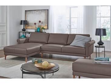 Hülsta Sofa hülsta sofa Polsterecke »hs.450« im modernen Landhausstil, Breite 262 cm, grau, Recamiere links, beigegrau