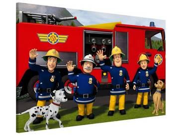 Bilderwelten Magnettafel Memoboard Quer »Feuerwehrmann Sam - Freunde«, bunt, 40x60 cm, Farbig