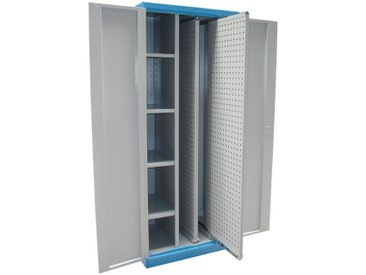 Güde GÜDE Werkzeugschrank »VAS T01«, (B/T/H): 78x58x193 cm, grau, blau/grau