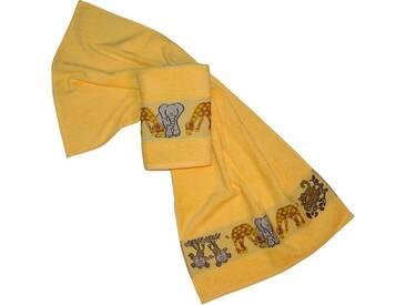 Dyckhoff Handtücher »Affe«, mit Tierbordüre, gelb, Walkfrottee, gelb