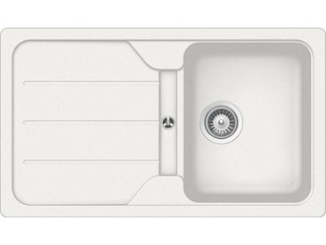 Schock SCHOCK Granitspüle »Formhaus«, ohne Restbecken, 86 x 50 cm, weiß, ohne Restebecken, weiß