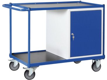 Protaurus PROTAURUS Unbefüllter Werkstattwagen , Einbauschrank, Traglast 300 kg, blau, blau