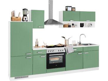 wiho Küchen Küchenzeile »Husum«, ohne E-Geräte, Breite 280 cm, grün, avocadogrün