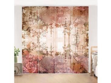 Bilderwelten Schiebegardinen Set »Old Grunge«, bunt, Deckenhalterung, 250 x 240cm (4 Vorhänge), Farbig