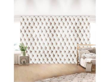 Bilderwelten Schiebegardinen Set »Shabby Weiss Vintage«, weiß, Deckenhalterung, 250 x 360cm (6 Vorhänge), Weiß