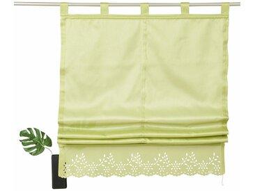 Home affaire Raffrollo »Neapel«, mit Schlaufen, grün, grün