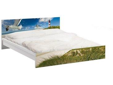Bilderwelten Möbelfolie für IKEA Malm Bett niedrig 140x200cm »Dune Breeze«, bunt, Farbig