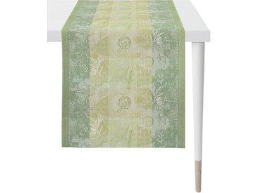 APELT Tischläufer »1615 Summergarden« (1-tlg), Jacquardgewebe, grün, Polyester, grün