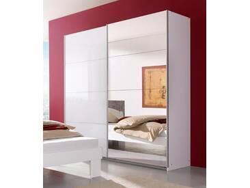 rauch PACK´S Schwebetürenschrank »Subito«, weiß, Breite 136 cm, 1 Spiegel- und 1 Weißglastür, weiß