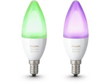Philips Hue LED-Lichtsystem, E14, 2 Stück, Neutralweiß, Tageslichtweiß, Warmweiß, Extra-Warmweiß, Farbwechsler, smartes LED-Lichtsystem mit App-Steuerung