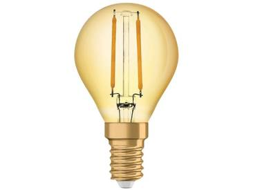 Osram LED-Lampe, Vintage-Edition, kleine Kolbenform »Vintage 1906 LED 22 2.5 W/825 E14 GOLD«, goldfarben, gold