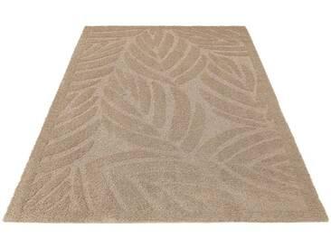 my home Selection Hochflor-Teppich »Jordi«, rechteckig, Höhe 32 mm, Besonders weich durch Microfaser, natur, 32 mm, beige
