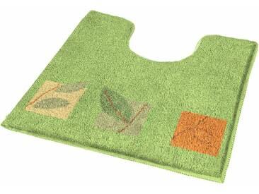 MEUSCH Badematte »Idyll« , Höhe 20 mm, rutschhemmend beschichtet, fußbodenheizungsgeeignet, grün, 20 mm, palme