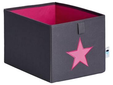 STORE IT! kleine Ordnungsbox, grau mit pinkem Stern, grau, grau