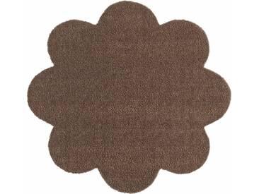 HANSE Home Fußmatte »Deko Soft«, blumenförmig, Höhe 7 mm, saugfähig, waschbar, braun, 7 mm, braun