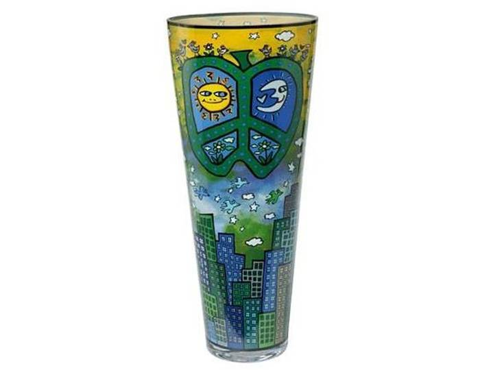 Goebel Vase, »Peace, Love and Flowers«, bunt, bunt Bunt