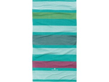 TOM TAILOR Strandtuch »Streifen«, mit harmonischen Streifen, grün, grün