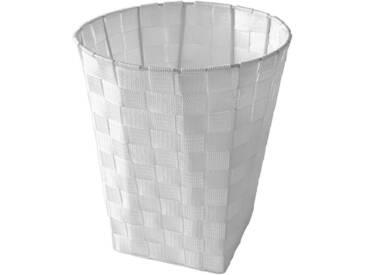 Franz Müller Flechtwaren FRANZ MÜLLER FLECHTWAREN Papierkorb, aus Nylongeflecht, rund, weiß, weiß