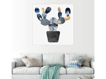 Posterlounge Wandbild - Elisabeth Fredriksson »Blue And Gold Cactus«, weiß, Forex, 30 x 30 cm, weiß
