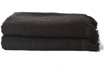 Casa di Bassi Handtuch Set »mit Fransenabschluss«, mit Fransenabschluss, schwarz, schwarz