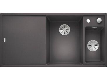 Blanco BLANCO Küchenspüle »AXIA III 6 S«, aus SILGRANIT®, benötigte Unterschrankbreite: 60 cm, grau, Hauptbecken rechts, mit Restebecken