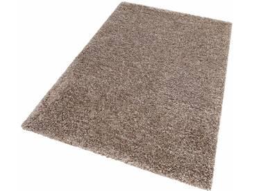 LALEE Hochflor-Teppich »Monaco«, rechteckig, Höhe 45 mm, silberfarben, 45 mm, titansilberfarben