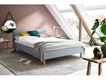 meise.möbel Polsterbett, blau, Strukturstoff eisblau